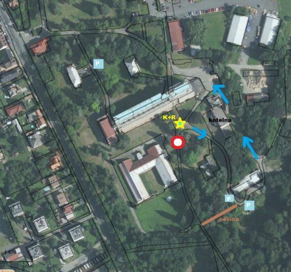 Klubovna - mapa okolí